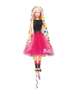 """Pallone foil Supershape 42"""" - 106 cm Barbie Sparkle 1 pz"""