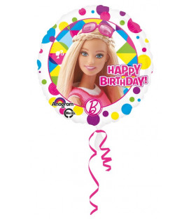 "Pallone foil Standard 17"" - 42 cm Barbie Sparkle Happy Birthday 1 pz"