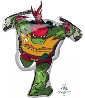 Pallone foil Supershape 73 x 86 cm Ninja Turtles Raffaello 1 pz