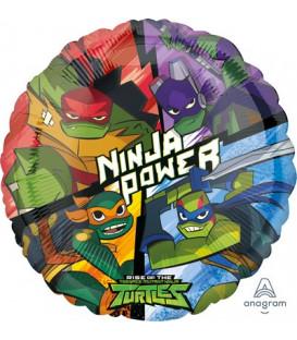 """Pallone foil standard 17"""" - 43 cm Ninja Turtles 1 pz"""