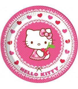 Piatto 23 cm Hello Kitty Hearts 8 pz