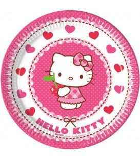 Piatto 20 cm Hello Kitty Hearts 8 pz