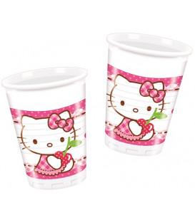 Bicchiere Plastica Hello Kitty Hearts 8 pz