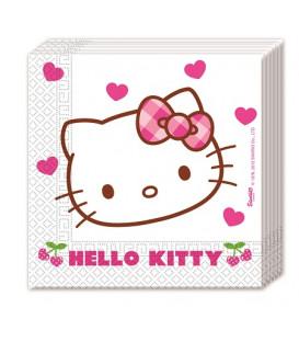 Tovagliolo 33 x 33 cm Hello Kitty Hearts 3 confezioni