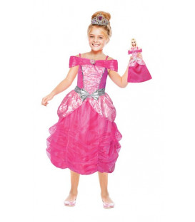 Costume Barbie Heart Pirincess + Mini Me Tg. 8-10 anni