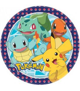 Piatto grande 23 cm Pokemon 8 pz