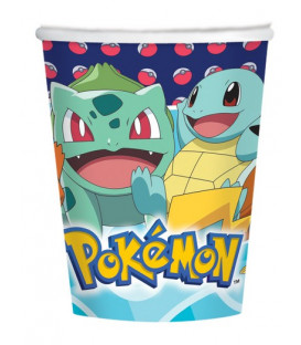 Bicchiere 250 ml Pokemon 8 pz