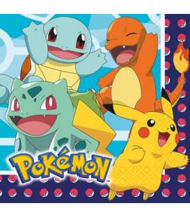 Tovagliolo 33 x 33 cm Pokemon 3 confezioni