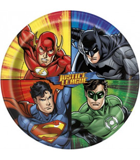Piatto 23 cm Justice League 8 pz