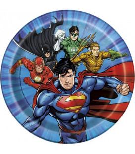 Piatto 18 cm Justice League 8 pz