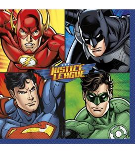 Tovagliolo 33 x 33 cm Justice League 3 confezioni