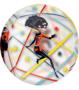 """Pallone foil ORBZ trasparente 16"""" - 40 cm Incredibles 1 pz"""