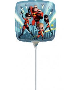 """Pallone foil 9"""" - 23 cm Incredibles - SI GONFIA AD ARIA"""