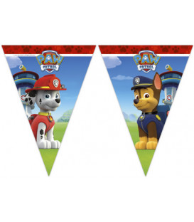 Festone bandierine plastica Paw Patrol Ready for Action 1 pz