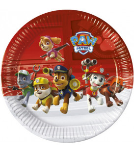 Piatto grande 23 cm Paw Patrol Ready for Action 8 pz