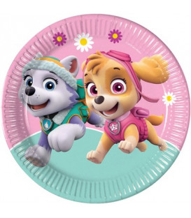 Piatto 23 cm Paw Patrol Skye and Everest 8 pz
