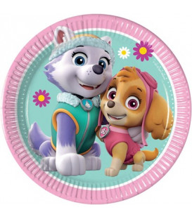 Piatto 20 cm Paw Patrol Skye and Everest 8 pz
