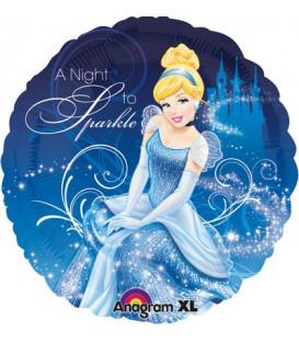 "Pallone foil standard 17"" - 42 cm Cenerentola A Night to Sparkle 1 pz"