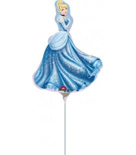 """Pallone foil Minishape 9"""" - 23 cm Cenerentola - SI GONFIA AD ARIA"""