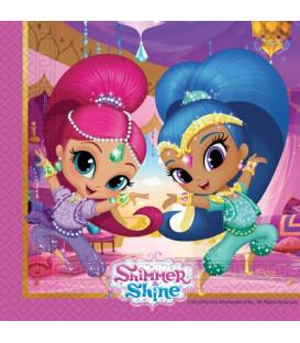 Tovagliolo 33 cm Shimmer & Shine Glitter Friends 3 confezioni