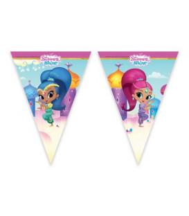 Festone bandierine plastica Shimmer & Shine Glitter Friends 1 pz