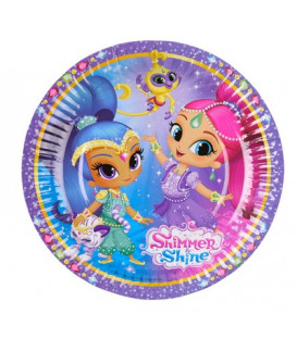 Piatto 18 cm Shimmer & Shine 8 pz