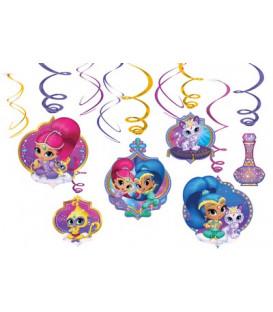 Pendenti Swirl Shimmer & Shine 6 pz