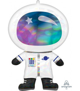 Pallone foil Supershape 50 x 76 cm Olografico Irid. Astronauta 1 pz