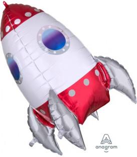 Pallone foil Ultrashape 55 x 73 cm Missile 1 pz