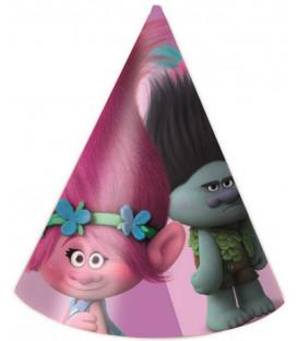 Cappello cono Trolls 6 pz