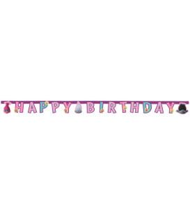 Festone Happy Birthday Trolls 1 pz