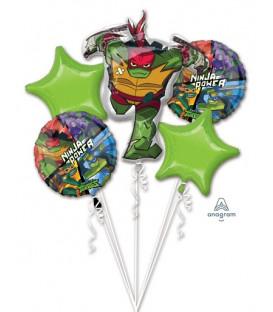 Bouquet 5 palloni Tartarughe Ninja 1 pz
