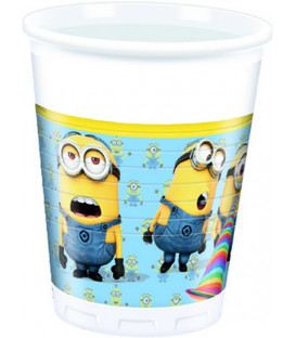 Bicchiere plastica 200 ml Lovely Minions 8 pz