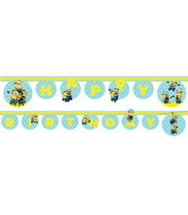 Festone Happy Birthday Lovely Minions 1 pz