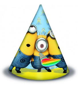 Cappello cono cartoncino Lovely Minions 6 pz