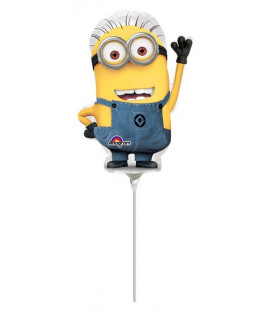 Pallone foil Minishape Minion - SI GONFIA AD ARIA