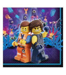 Tovagliolo 33 x 33 cm Lego Movie 16 Pz