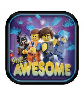 Piatto 18 cm Lego Movie 8 pz