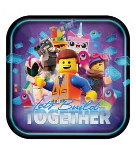 Piatto 23 cm Lego Movie 8 pz