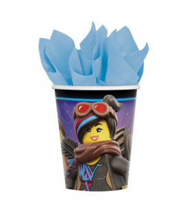 Bicchieri carta 266 ml Lego Movie 8 pz