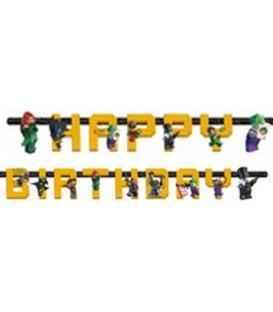 Festone snodabile 180 x 15 cm Happy Birthday Lego-Batman 1 pz
