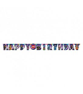 Festone Happy Birthday 163 x 13 cm Lego Movie 2 1 pz