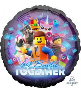 "Pallone foil standard 17"" - 43 cm Lego Movie 2 1 pz"