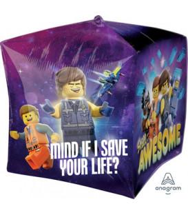 """Pallone foil CUBEZ 15"""" - 38 cm Lego Movie 2 1 pz"""