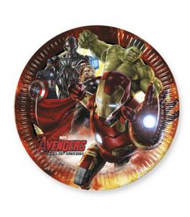 Piatto 23 cm Avengers Age of Ultron 8 pz