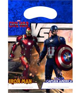 Loot bag Avengers Civil War 6 pz