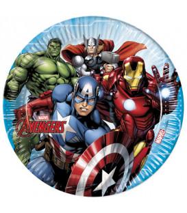 Piatto 23 cm Avengers Mighty 8 pz