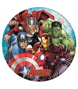 Piatto 20 cm Avengers Mighty 8 pz