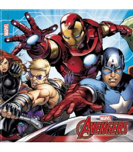 Tovagliolo 33 x 33 cm Avengers Mighty 3 confezioni