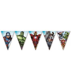 Festone bandierine triangolari Avengers Mighty 1 pz